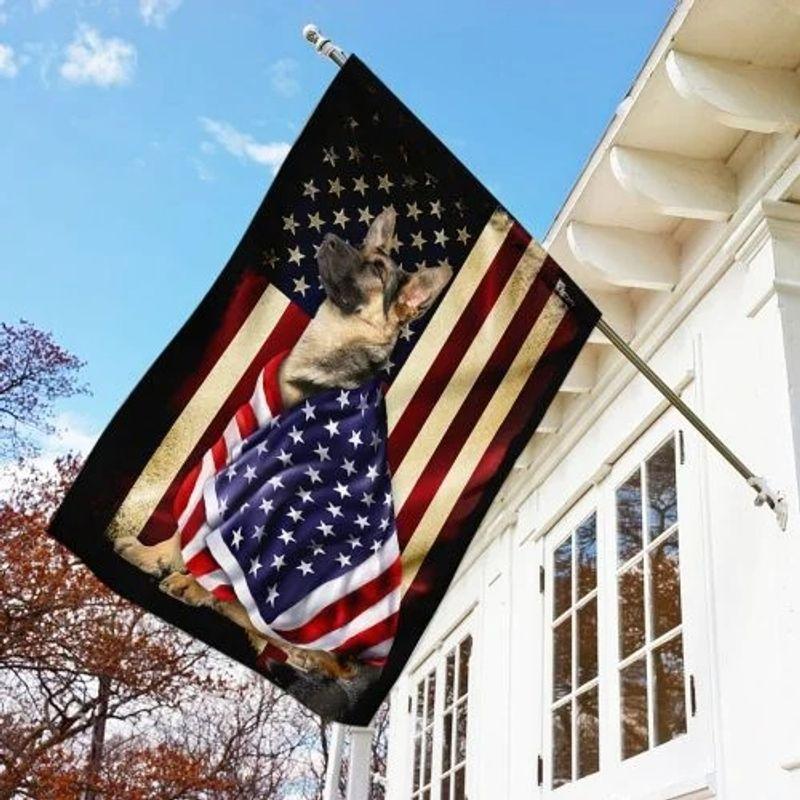 German Shepherd American patriot flag 10