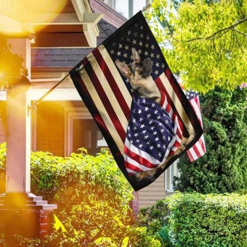 German Shepherd American patriot flag 11