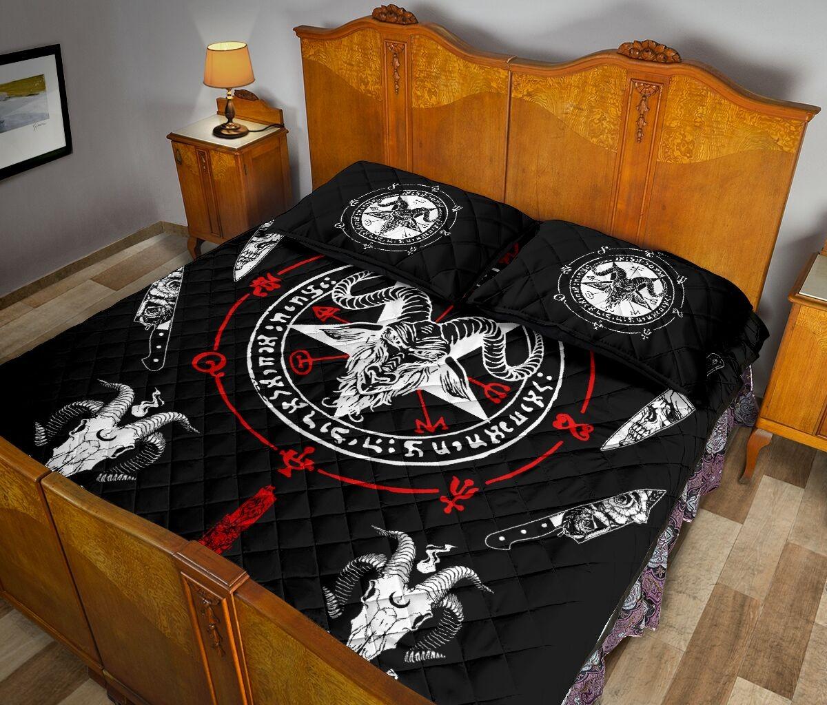 Hail Satan bedding set 10