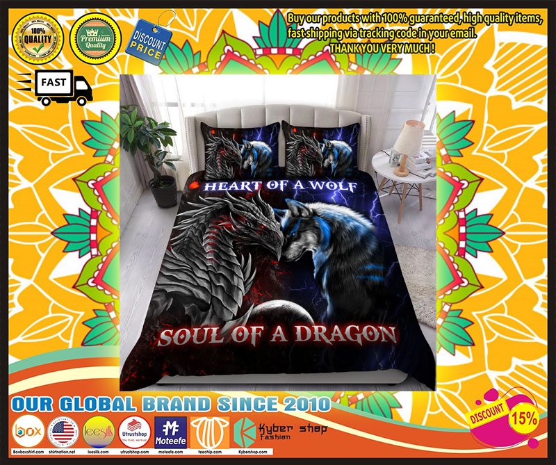 Heart of a wolf soul of a dragon bedding set 10