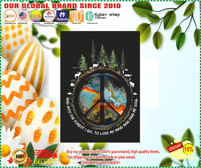 Hippie peace and into the forest I go stickers 11