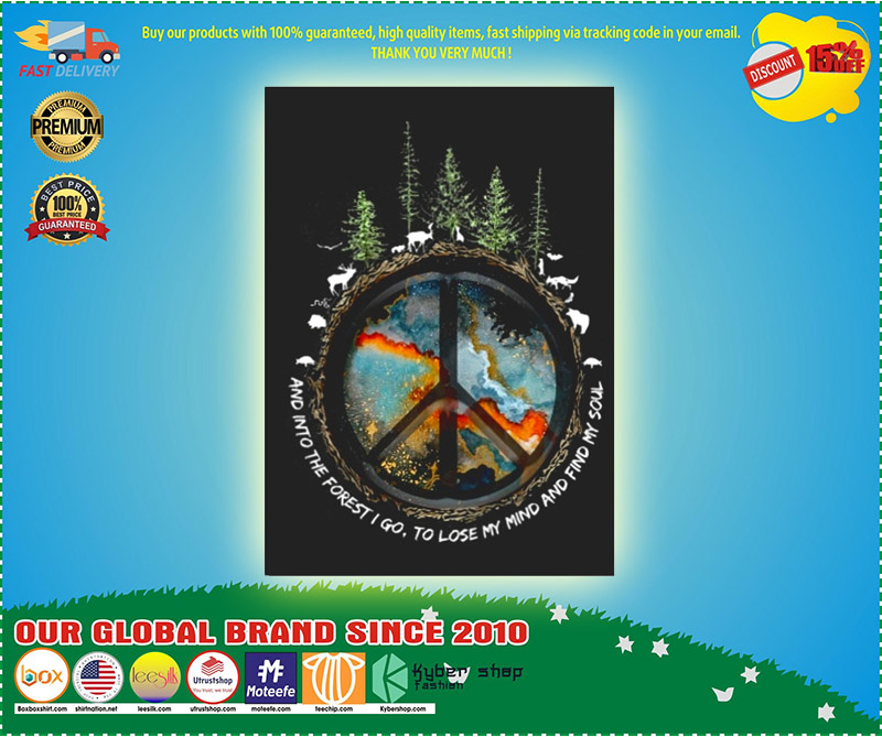 Hippie peace and into the forest I go stickers 9