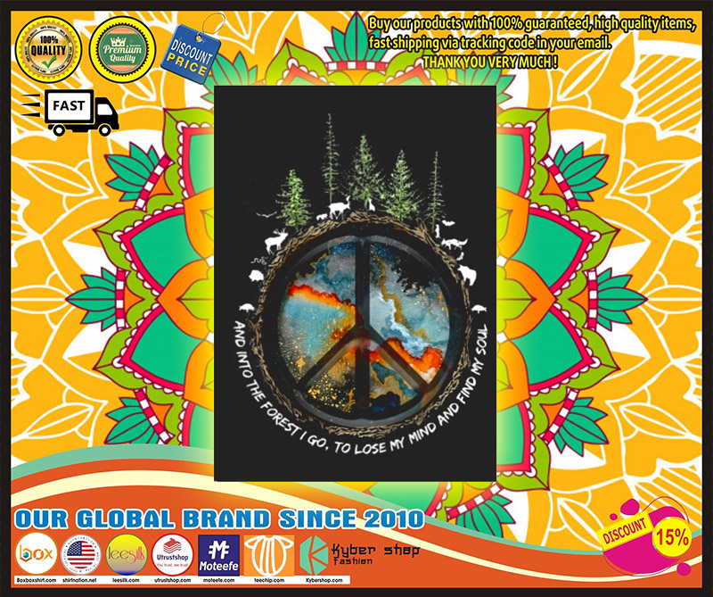 Hippie peace and into the forest I go stickers 10