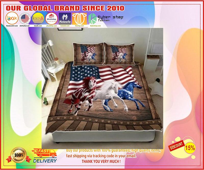 Horse running American bedding set 10