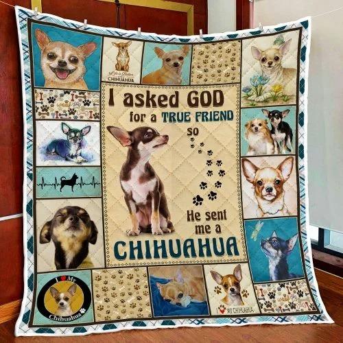 I ask God and he send me chihuahua bedding set 4