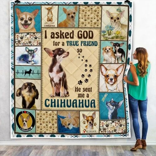 I ask God and he send me chihuahua bedding set 3