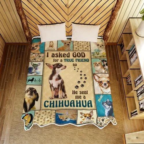 I ask God and he send me chihuahua bedding set 2