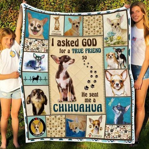 I ask God and he send me chihuahua bedding set 1