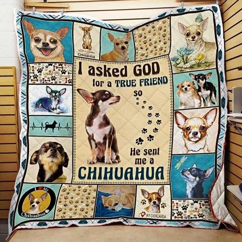 I ask God and he send me chihuahua bedding set