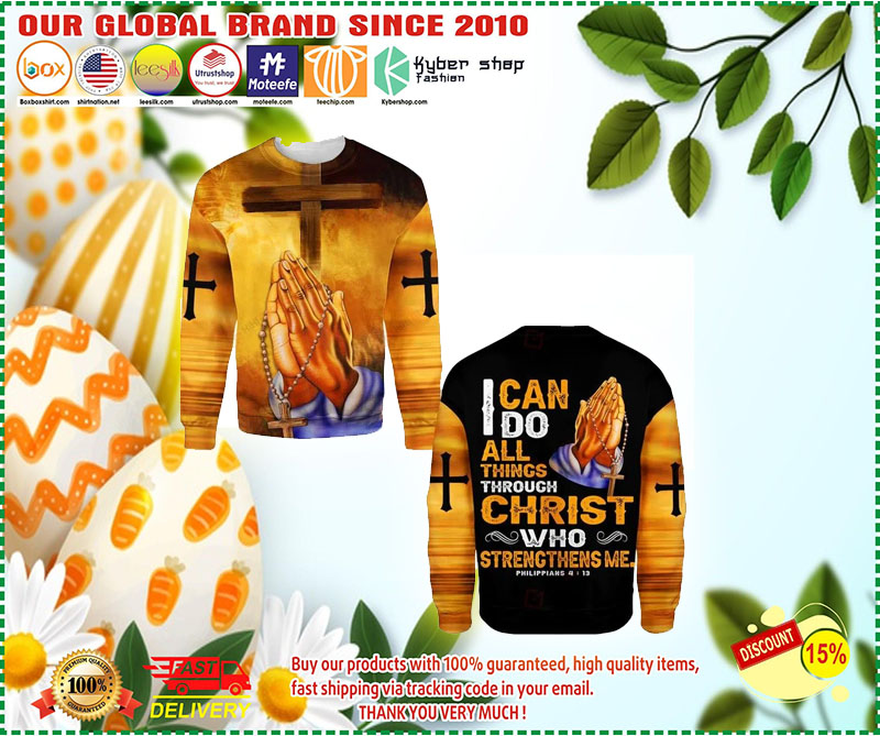 I can do all things through christ who strength me 3D hoodie 11