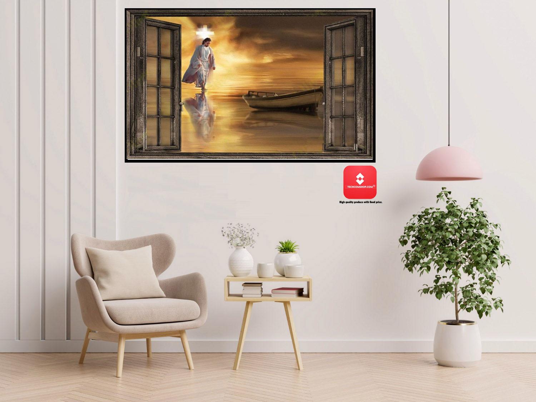 Jesus through the window poster 7