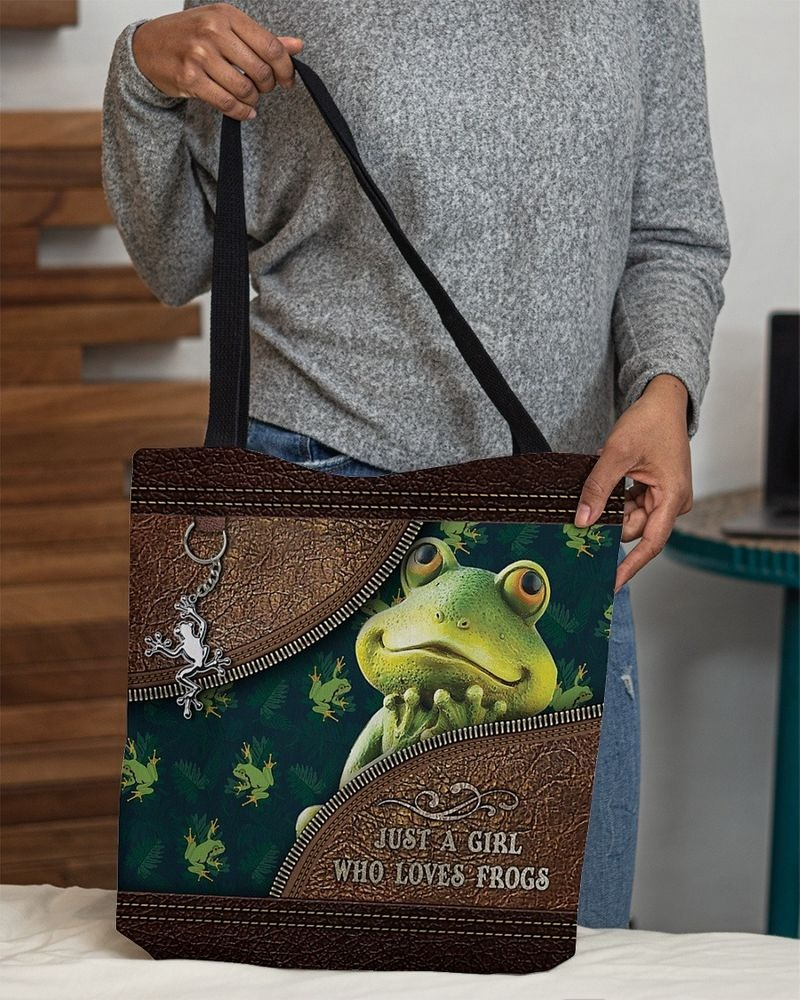 Just a girl who loves frogs tote bag 9