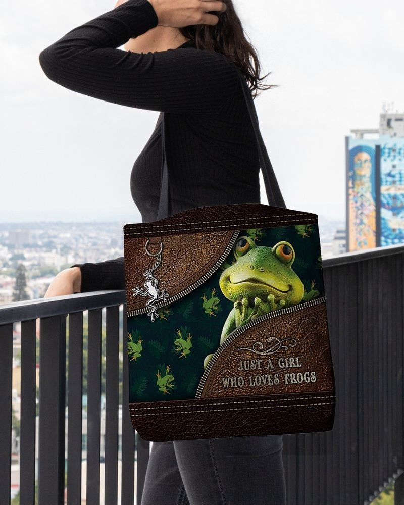 Just a girl who loves frogs tote bag 11