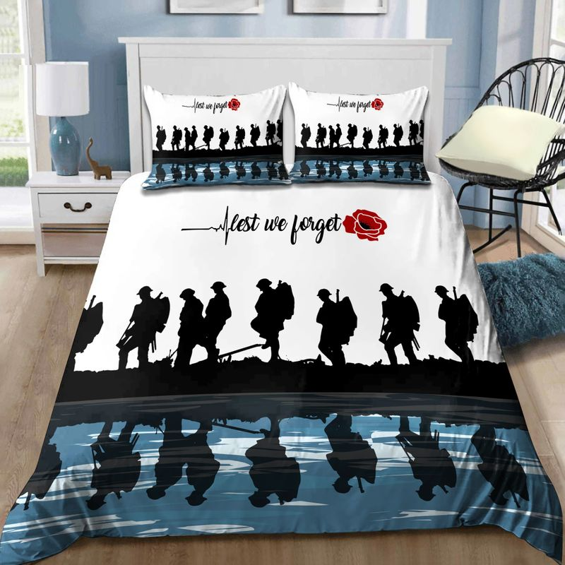 Lest we forget Honor the fallen UK Veteran 3D bedding set 7