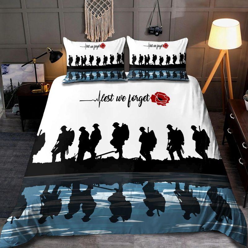 Lest we forget Honor the fallen UK Veteran 3D bedding set 8