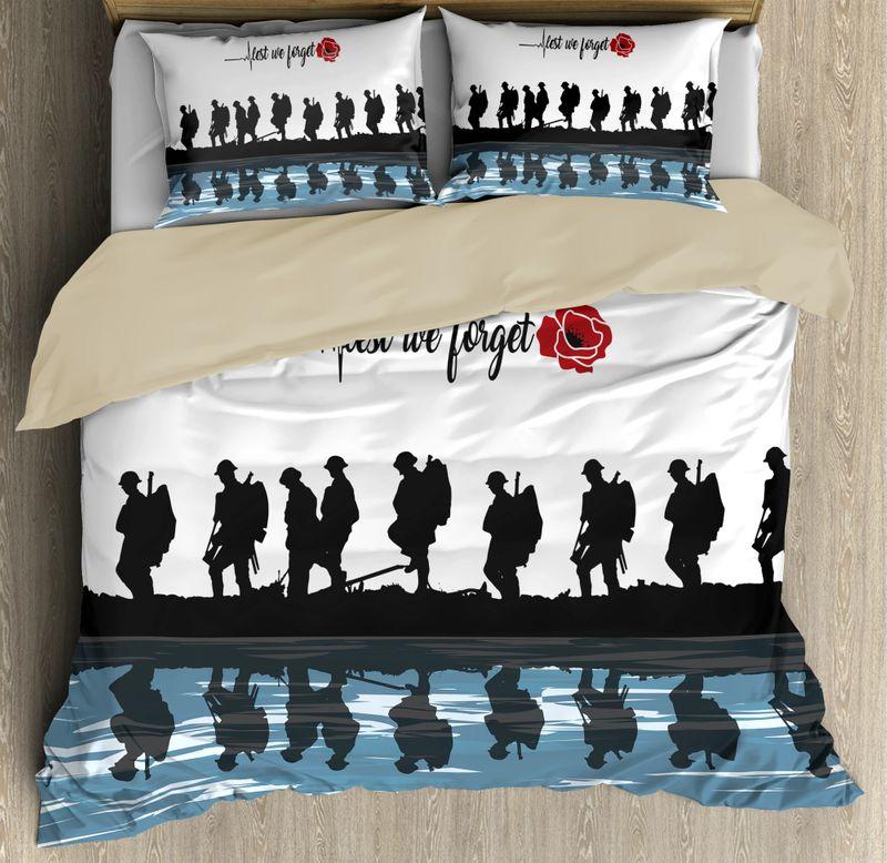 Lest we forget Honor the fallen UK Veteran 3D bedding set 9