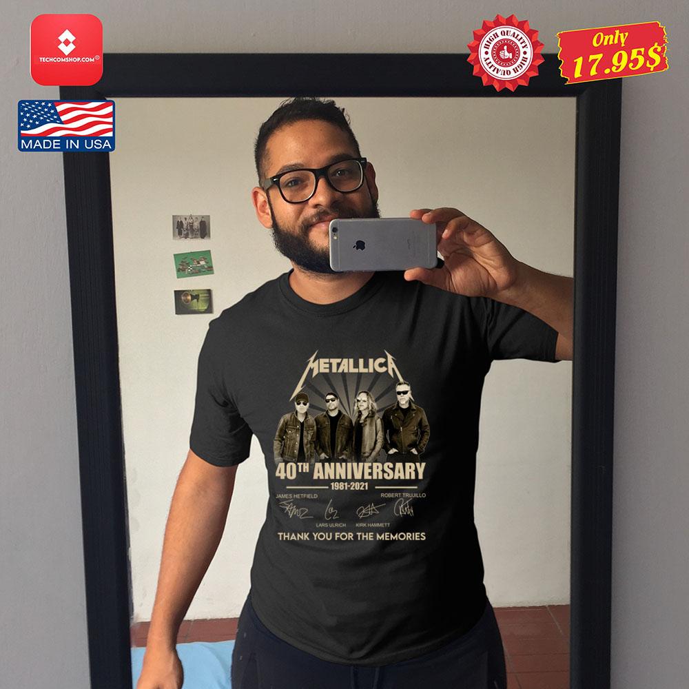 Metallica 40th anniversary 1981 2921 tank you for the memories Shirt 12