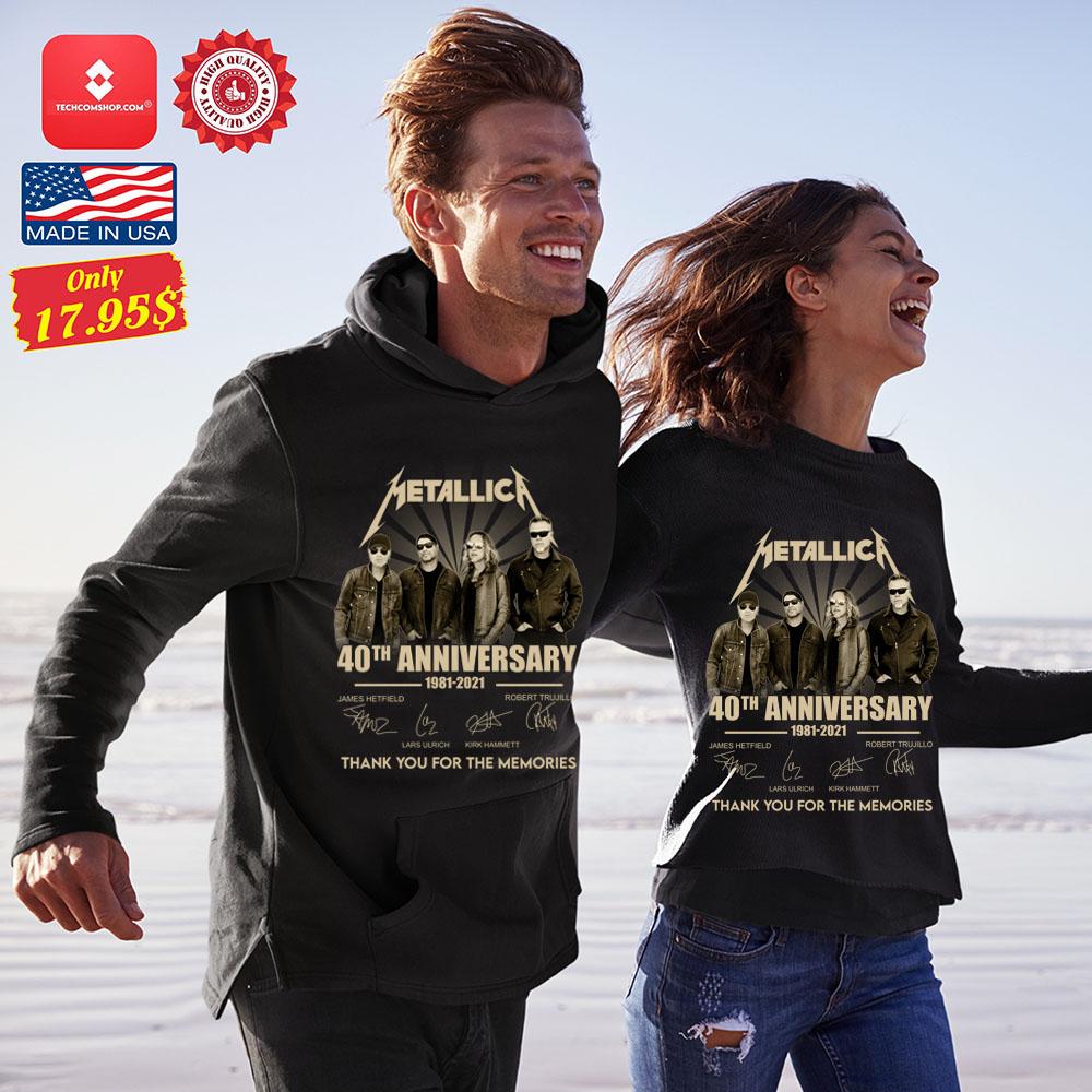 Metallica 40th anniversary 1981 2921 tank you for the memories Shirt 13