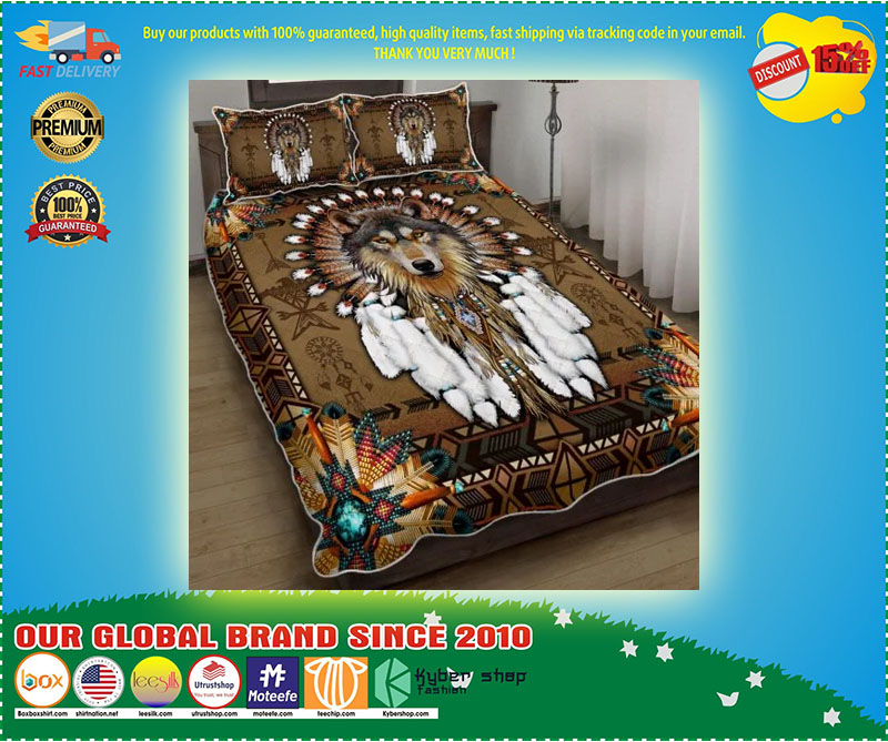 Native American wolf spirit bedding set 9