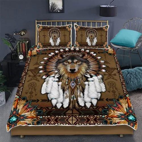 Native American wolf spirit bedding set 2
