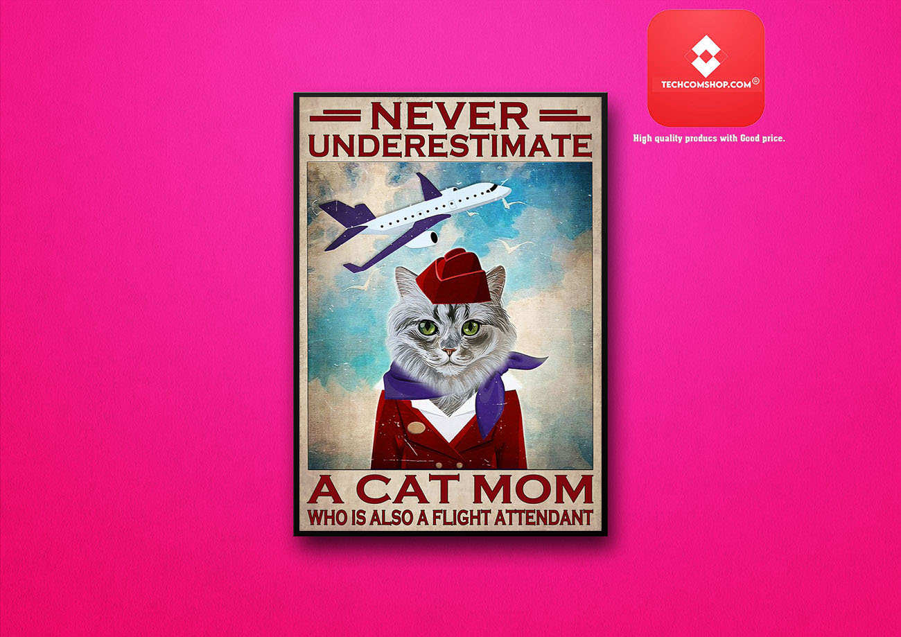 Never underestimate a cat mom who is also a flight attendant poster 8