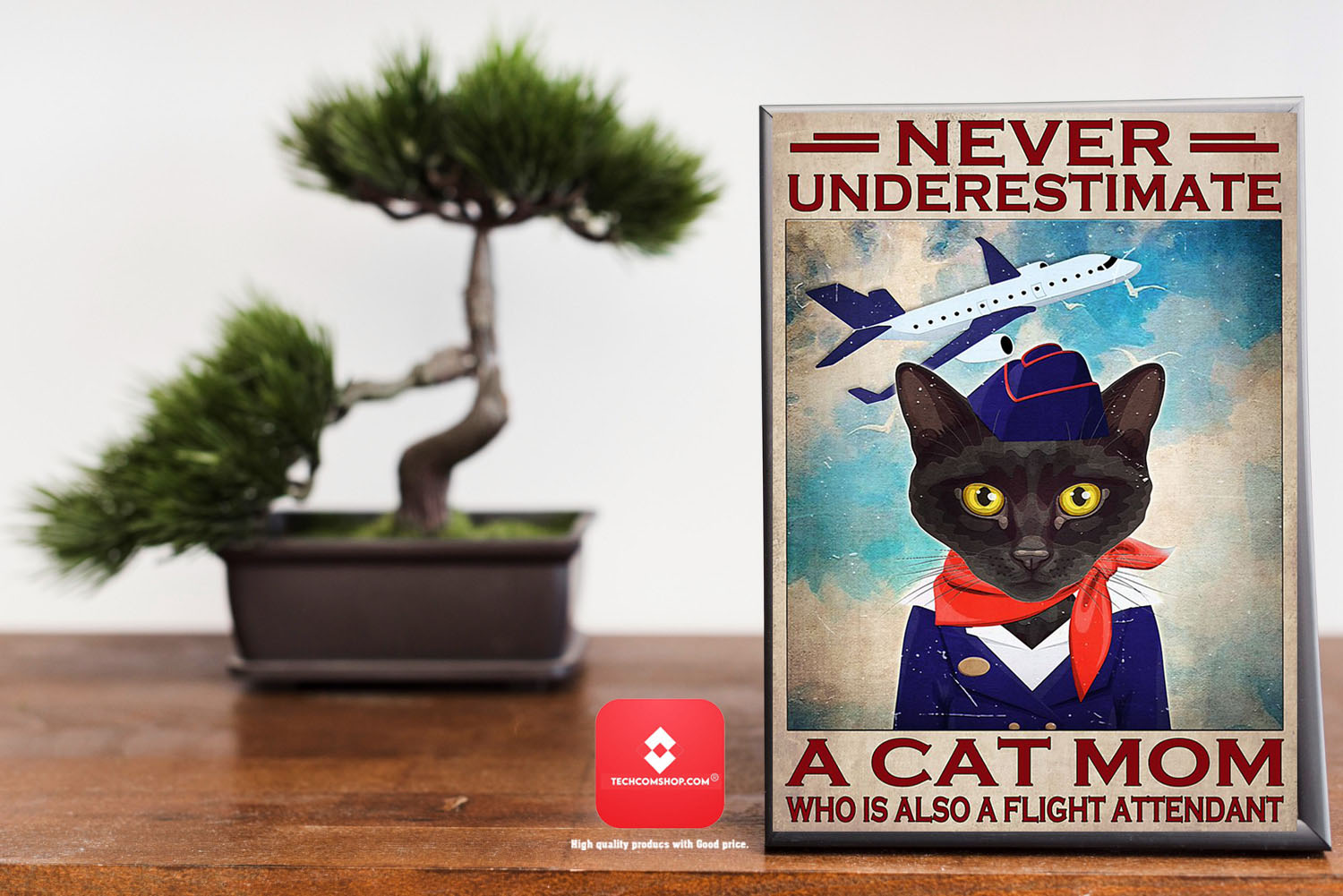 Never underestimate a cat mom who is also a flight attendant poster 9