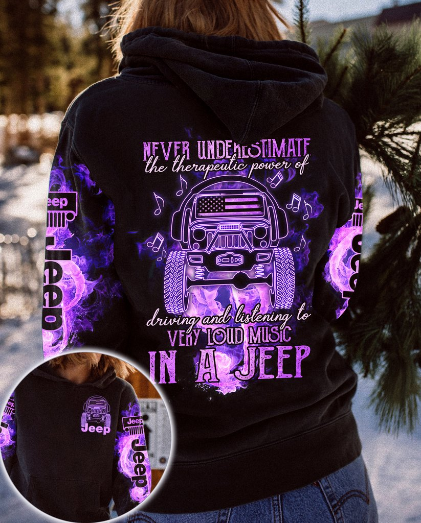 Never underestimate very loud music in a jeep 3D hoodie 11
