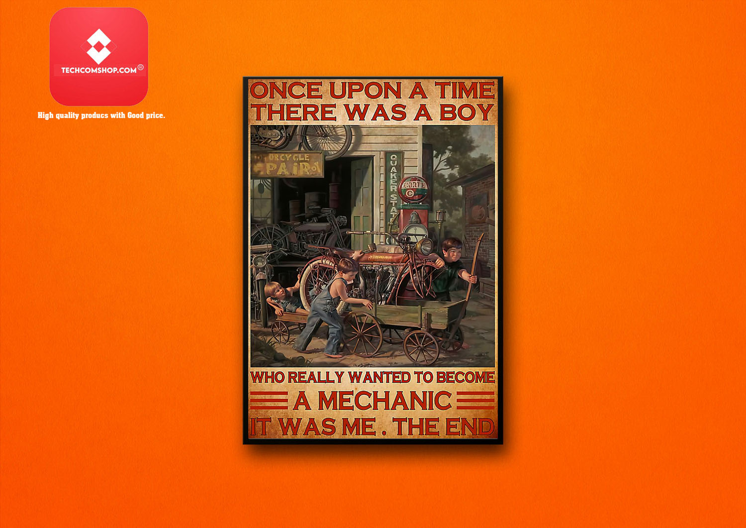 Once upon a time there was a boy who really wanted to become a mechanic poster 7