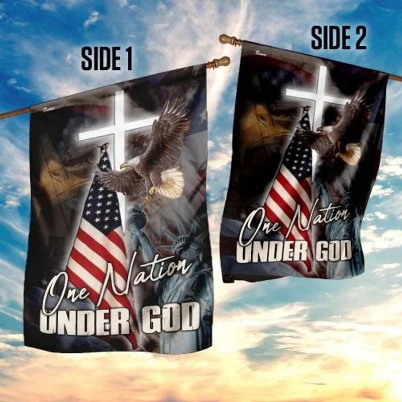 One nation under god eagle American flag 9