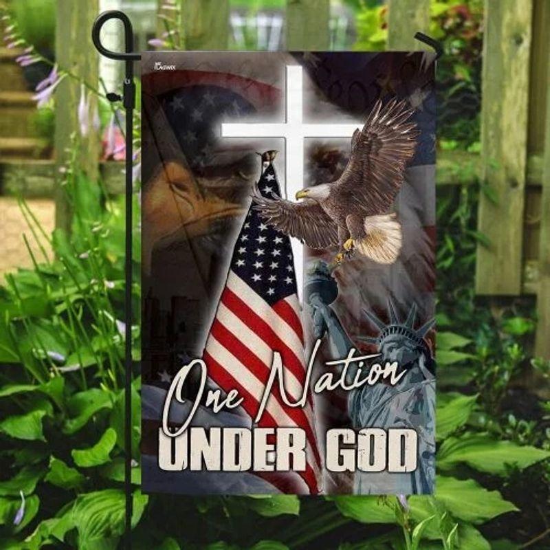 One nation under god eagle American flag 10