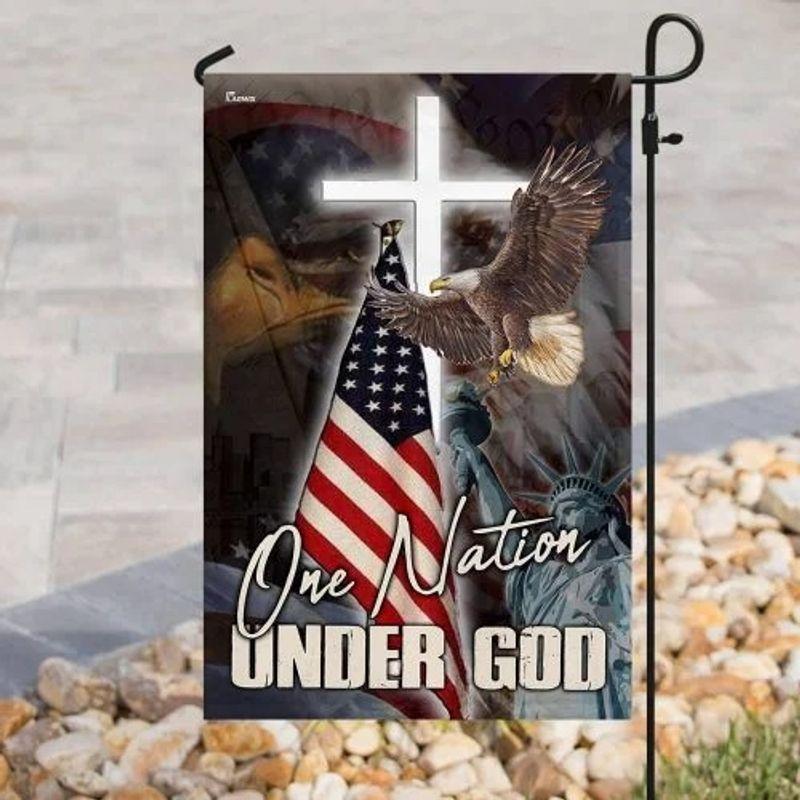 One nation under god eagle American flag 11