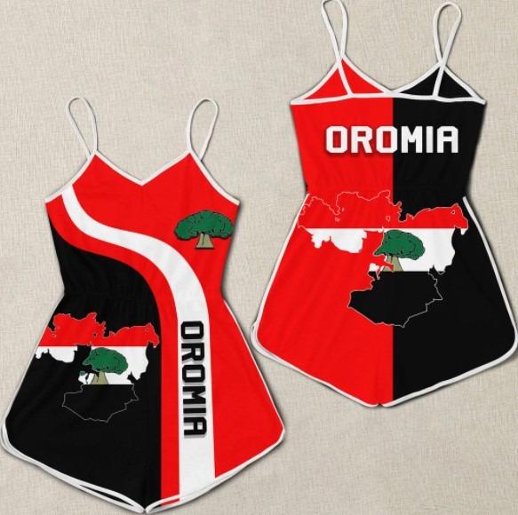 Oromia flag maps 3D hoodie 3