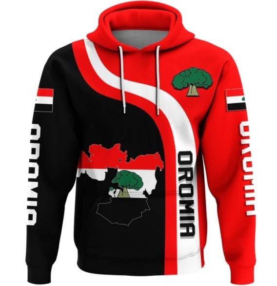 Oromia flag maps 3D hoodie