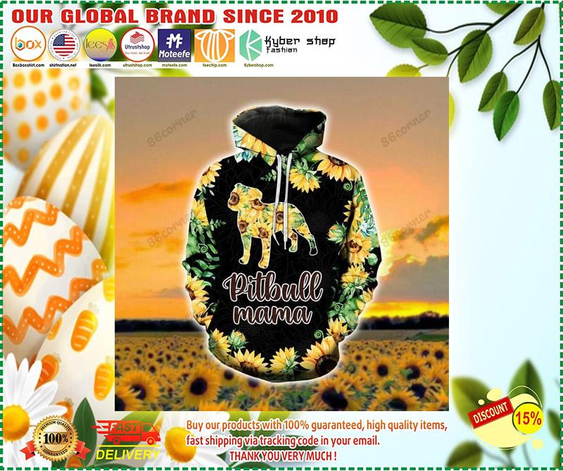 Pitbull mama Sunflower 3D hoodie and legging 11