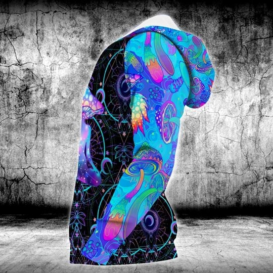 Psychedelic yoga magic mushroom 3D hoodie 3