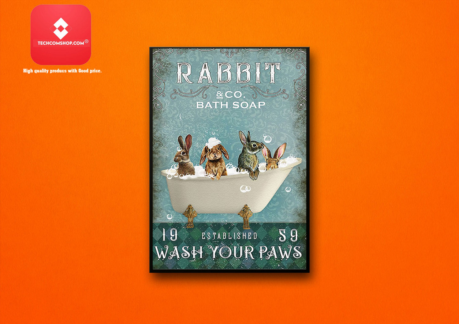 Rabbit and co bath soap 19 established s9 wash your paws poster 7