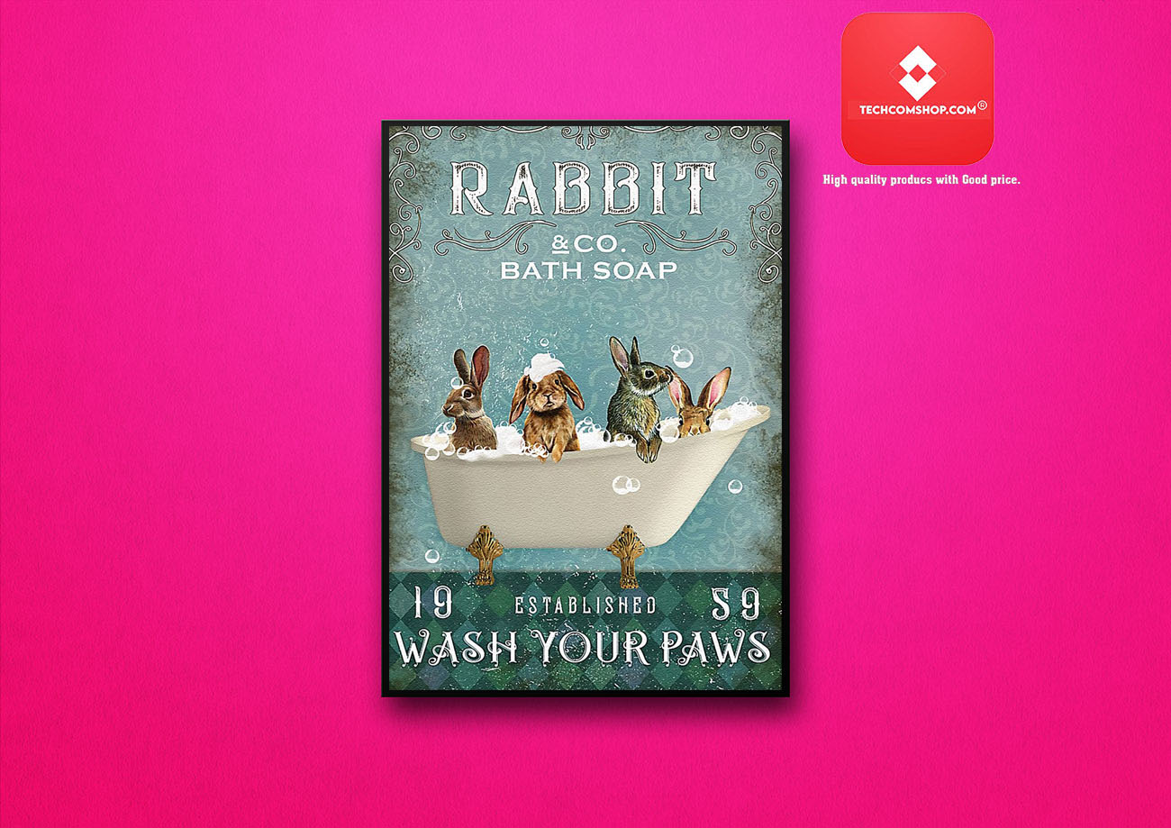 Rabbit and co bath soap 19 established s9 wash your paws poster 6