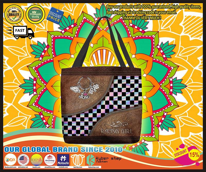 Racing girl leather tote bag 10