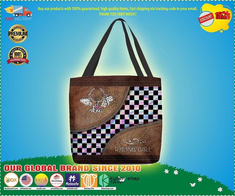 Racing girl leather tote bag 11