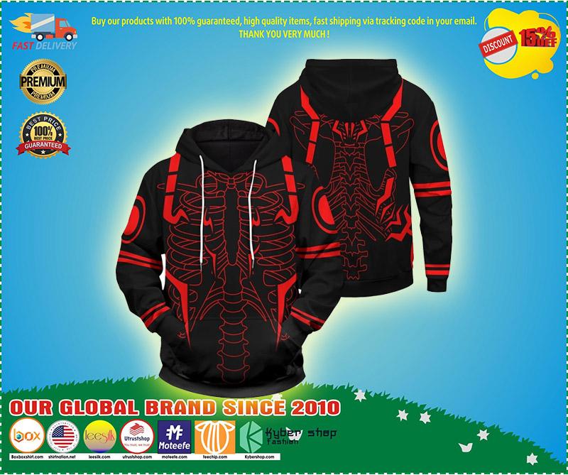 Rib Sukuna 3d over print hoodie 7