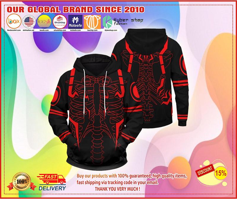Rib Sukuna 3d over print hoodie 8