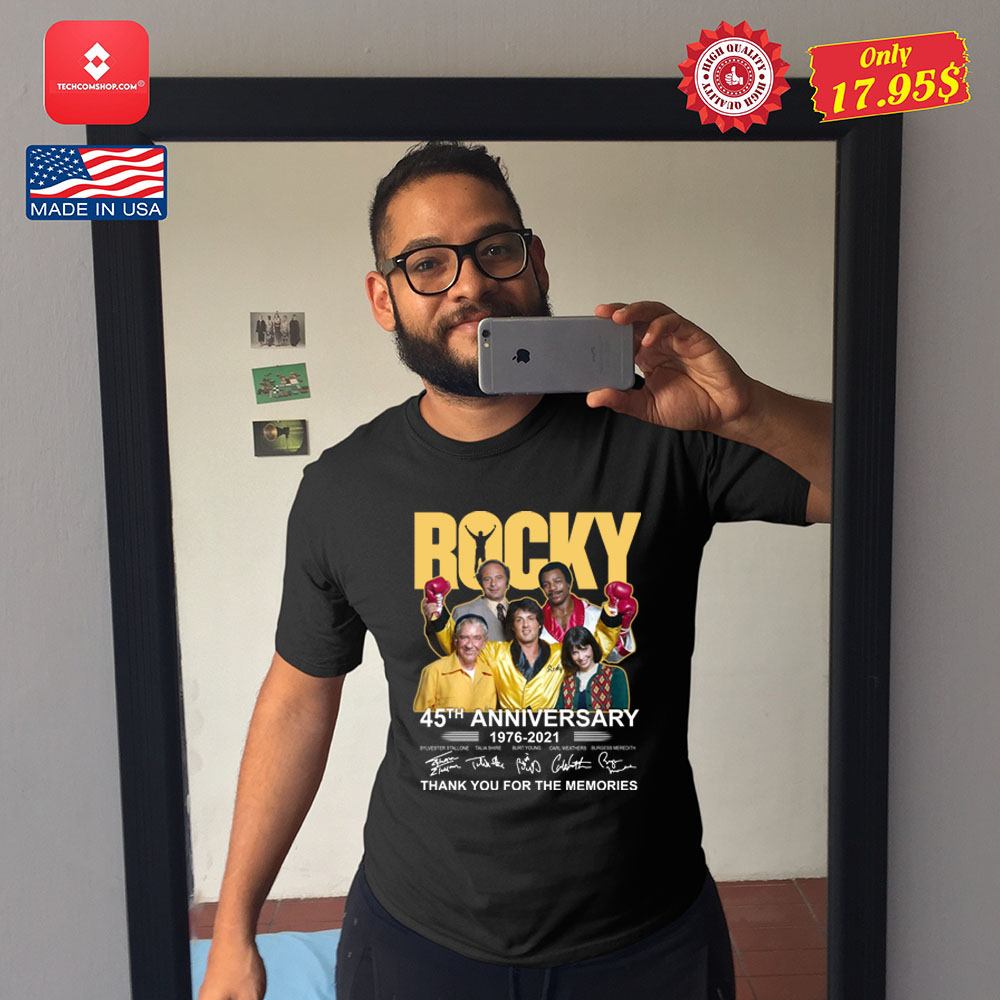 Rocky 45th anniversary 1976-2021 thank you fore the memories Shirt 10