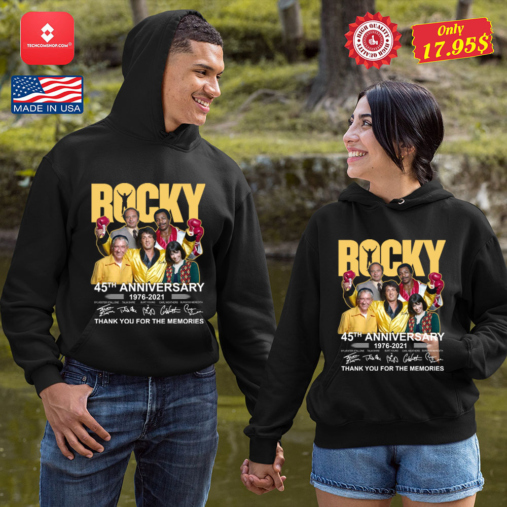 Rocky 45th anniversary 1976-2021 thank you fore the memories Shirt 12
