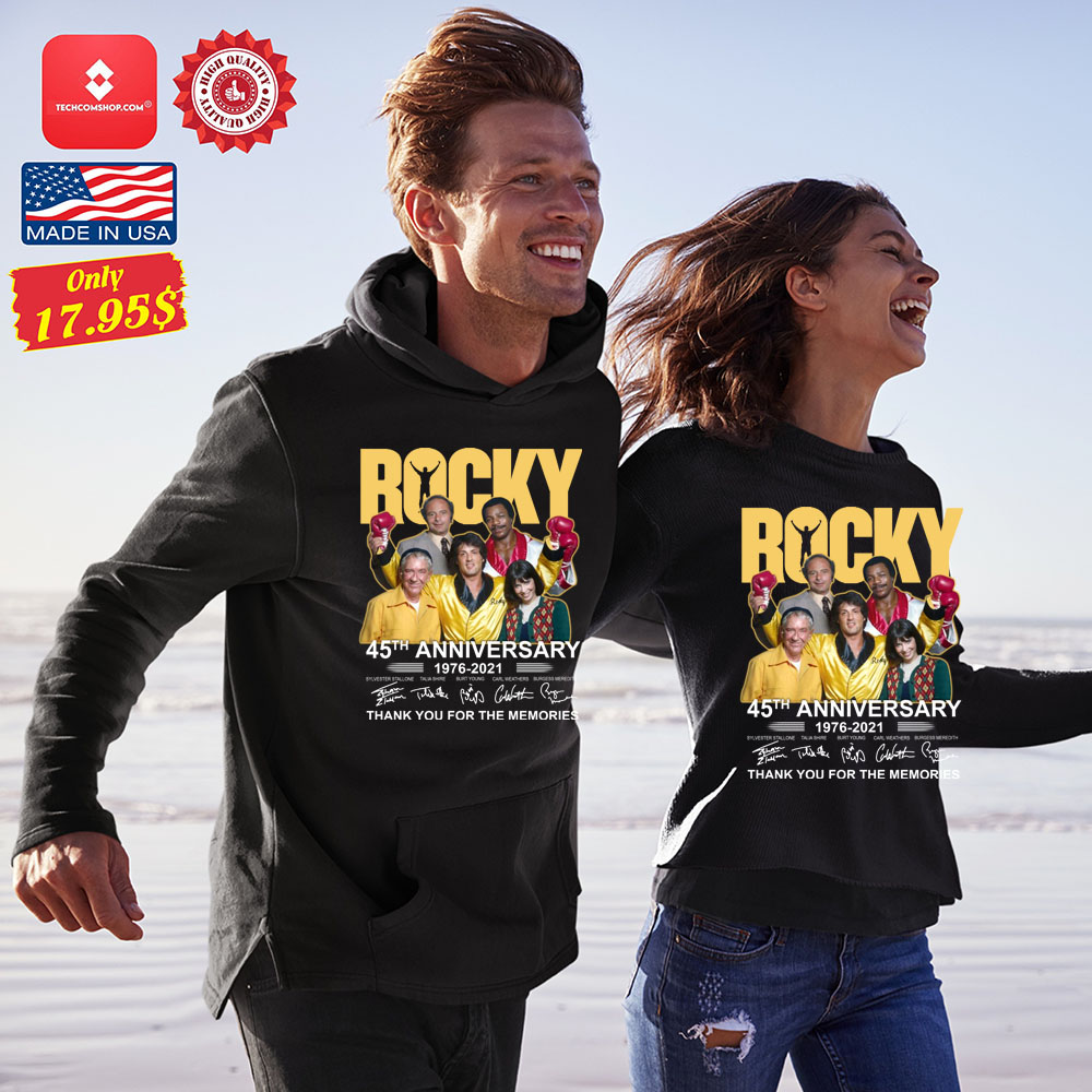 Rocky 45th anniversary 1976-2021 thank you fore the memories Shirt 11