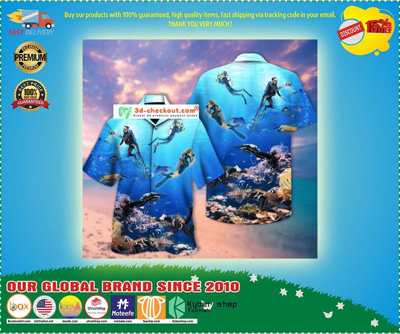 Scuba diving hawaiian shirt 9