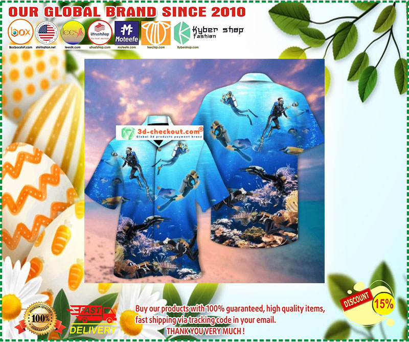 Scuba diving hawaiian shirt 10