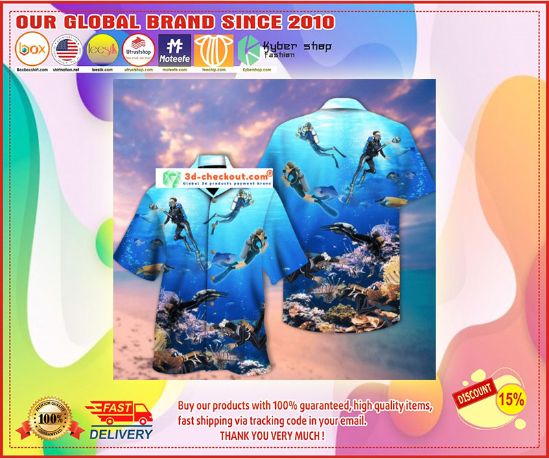 Scuba diving hawaiian shirt 11