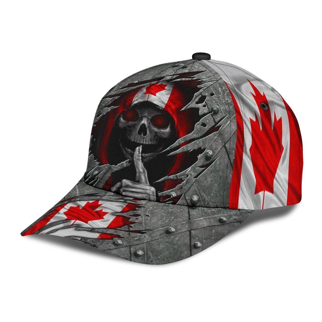 Skull Canada flag cap 9
