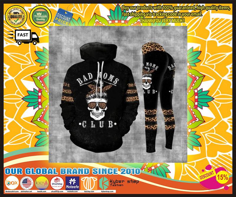 Skull bad moms dark club 3D hoodie and legging 10