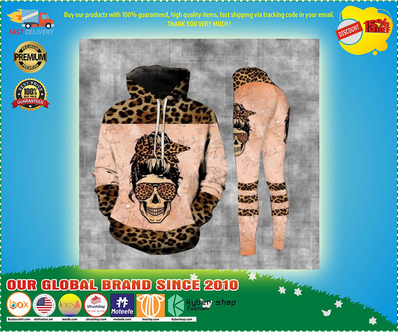Skull badass moms club 3D hoodie and legging 7